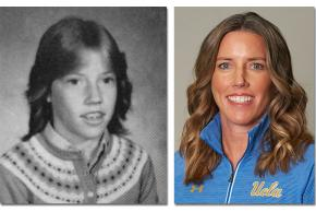Middle school photo and current UCLA staff photo of Amanda Cromwell